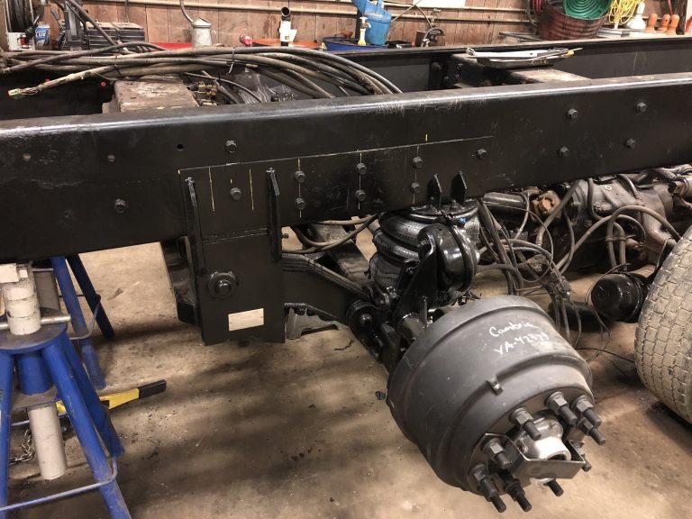 New 20,000lb lift axle install - Diesel Engine Repair photo