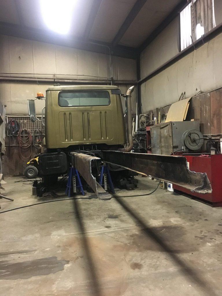 New framerails in progress- Diesel Engine Repair Photo