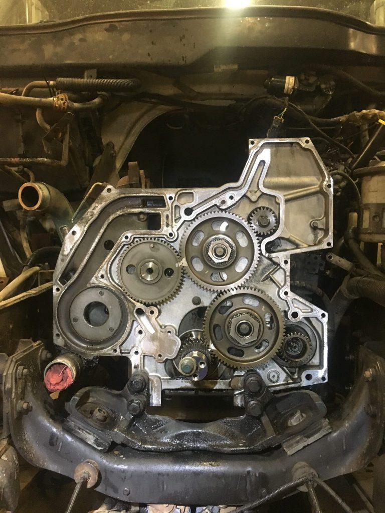 Front timing gears- Diesel Engine Repair Photo