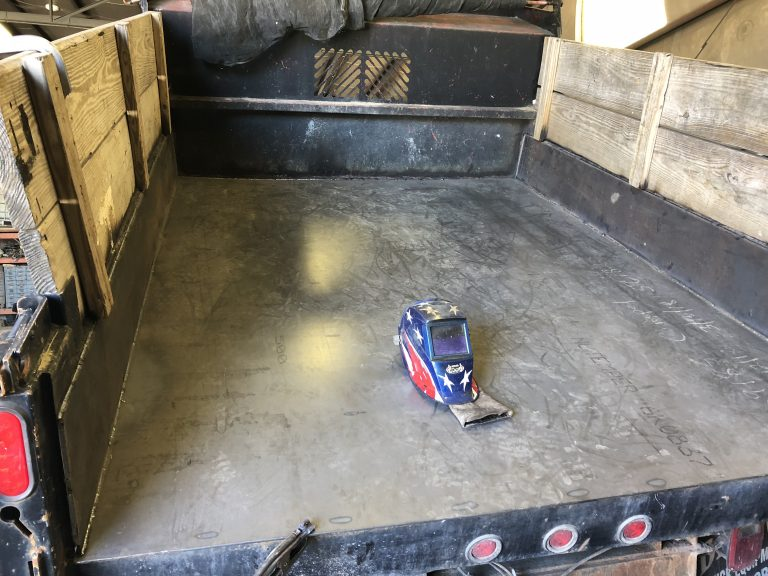 Fabricated new dump body floor and sides